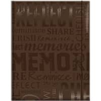 "Memories - Brown - Embossed Gloss Expressions Photo Album 4.75""X6.5"" 100 Pocket"