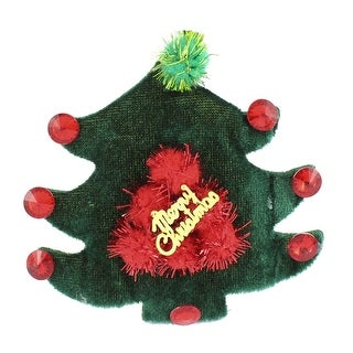 Lady Woman Cloth Tree Decor Christmas Party Alligator Hair Clip Barrette Green