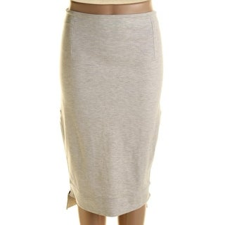 French Connection Womens Hi-Low Knee-Length Pencil Skirt - 4