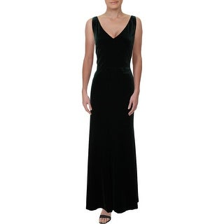 Lauren Ralph Lauren Womens Zafiya Evening Dress Velvet Sleeveless
