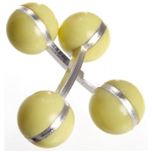 Double Ball Cufflinks Pastel Yellow