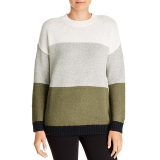 Link to VELVET BY GRAHAM & SPENCER Womens Sweater Colorblock Crew Neck - Multi Similar Items in Women's Sweaters