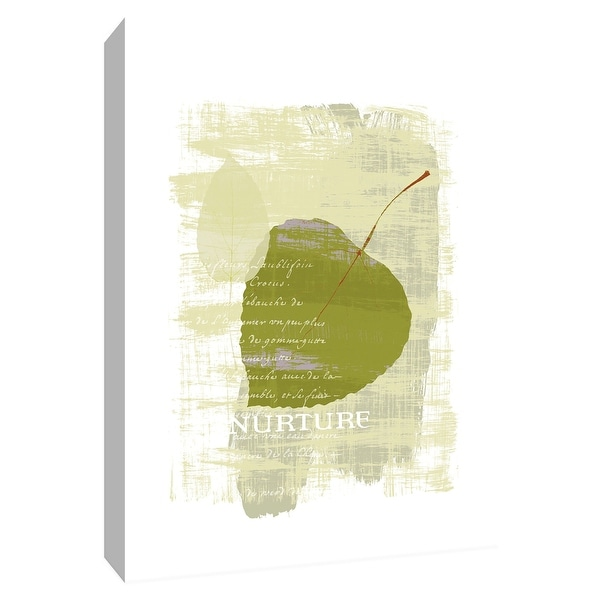 """PTM Images 9-154520 PTM Canvas Collection 10"""" x 8"""" - """"Nurture"""" Giclee Leaves Textual Art Print on Canvas"""