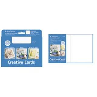Strathmore 105160 10 Pack Cards & Envelopes Flourescent White