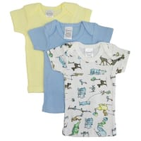 Bambini Printed Boys Short Sleeve Variety Pack - Size - Newborn - Boy