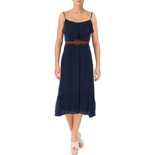 BCX Womens Juniors Maxi Dress Hi-Low Gauze