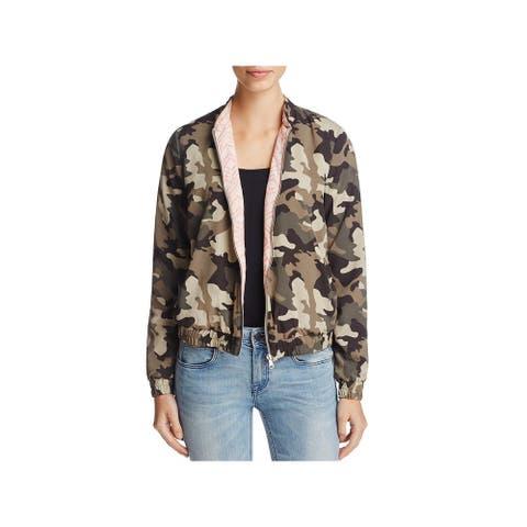 Vero Moda Womens Bomber Jacket Camouflage Long Sleeves
