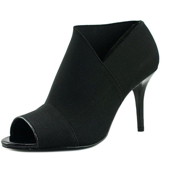 Adrianna Papell Aneva Women Open-Toe Synthetic Black Heels