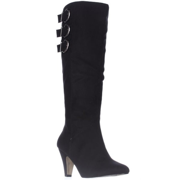 Bella Vita Transit II Wide Calf Dress Knee-High Boots, Black
