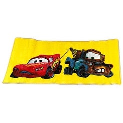 Disney Pixar Cars Lightning McQueen & Mater 20x31 Rug, Yellow