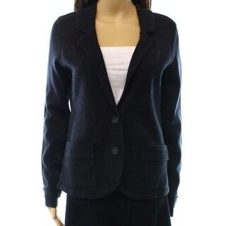 Halogen NEW Blue Navy Women's Size Medium M Pocketed Cardigan Sweater
