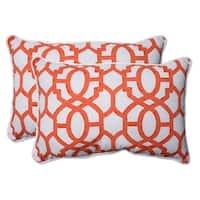 """Set of 2 Nunu Geo Mango Over-Sized Rectangular Throw Pillow 24.5"""" - White"""
