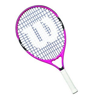 Wilson Girls Burn Pink 21 Racket, Pink/Black, 3.5