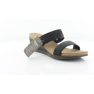 f7b3fc99cfbaf Bearpaw Women s Brea Strappy Sandal Black II Faux Leather · Quick View