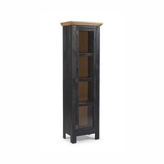 The Beach House Design Narrow Cabinet Glass Door