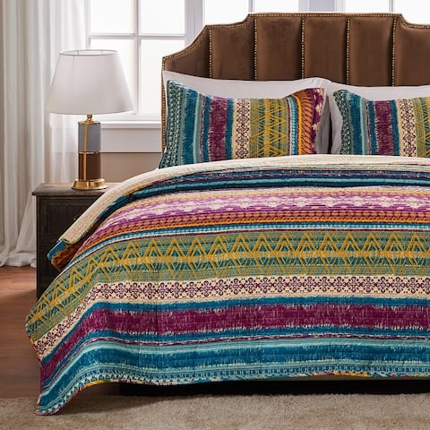 Greenland Home Fashions Southwest All-Cotton Quilt and Pillow Sham Set