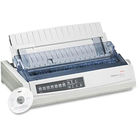 Okidata 62411701 ml321t - mono - dot-matrix printer - 9-pin printerhead - up to 435cps - White