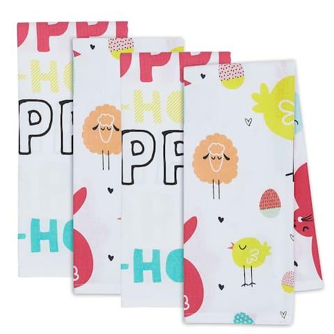 """DII Hippity Hoppity Dishtowel Set, 18x28"""", 4 Piece"""