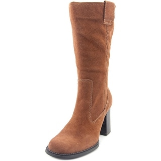 On Your Feet KARMA Women Round Toe Suede Brown Mid Calf Boot