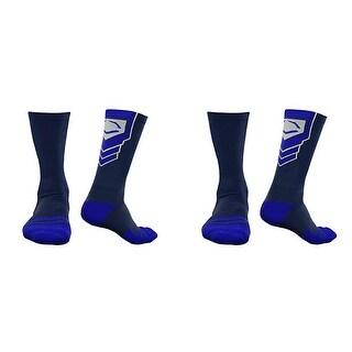 EvoShield Performance Crew Socks (Navy Blue w/ Royal / Medium / 2 Pair)