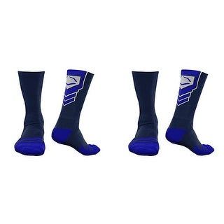 EvoShield Performance Crew Socks (Navy Blue w/ Royal / Small / 2 Pair)