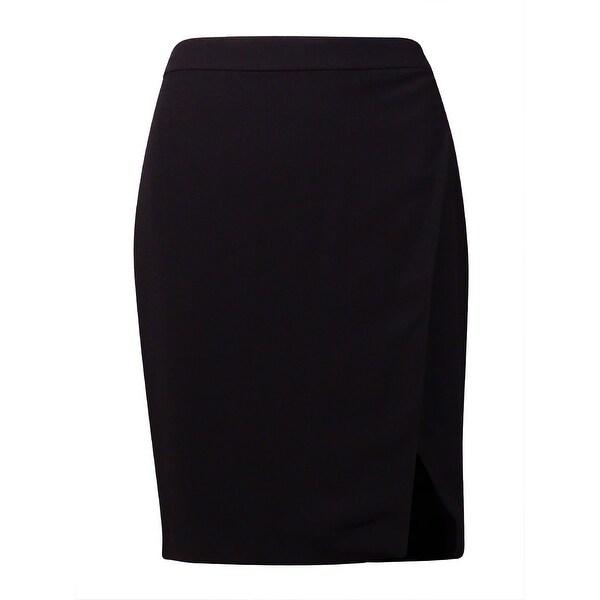 Lauren Ralph Lauren Women's Crepe Straight Envelope Skirt - Black