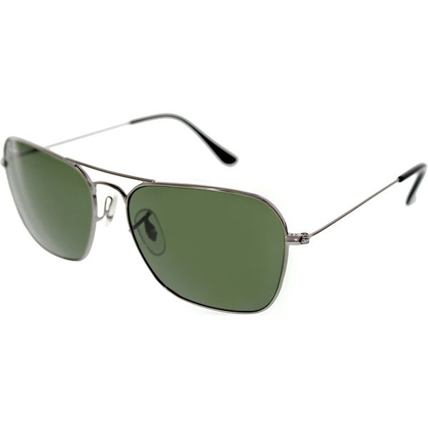 65617c4f43f Shop Ray-Ban Men s Caravan RB3136-004-58 Grey Square Sunglasses - Free  Shipping Today - Overstock.com - 18914884