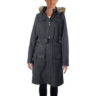 Rocawear Womens Wool Heathered Coat - L