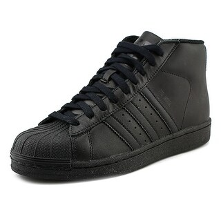 Adidas Pro Model J Youth Round Toe Leather Black Sneakers