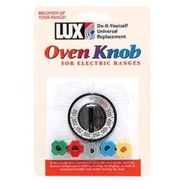 Lux CPR401 Universal Replacement Oven Knob, Black