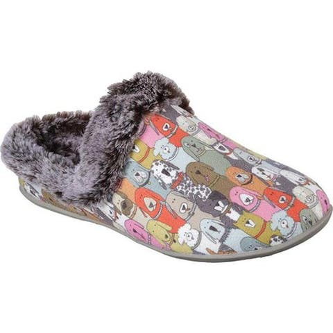 Skechers Women's Beach Bonfire Cuddle Mutts Clog Slipper Multi