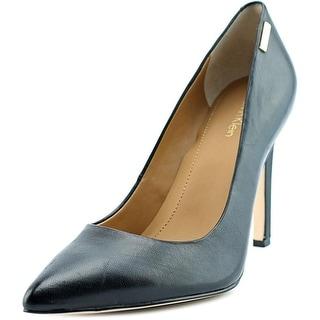 Calvin Klein Bristy Women Pointed Toe Leather Black Heels
