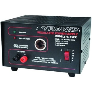 Pyramid 12 Amp Power Supply with Cigarette Lighter Plug