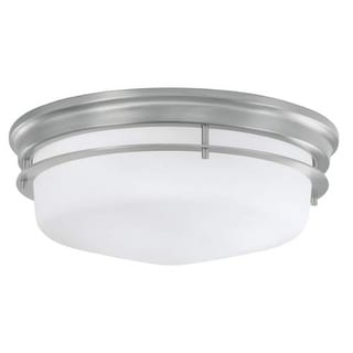 """Norwell Lighting 5633 Galley 3 Light 16"""" Wide Flush Mount Ceiling Fixture with Matte Opal Shades"""