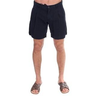 Dolce & Gabbana Blue Cotton Above Knees Dress Shorts