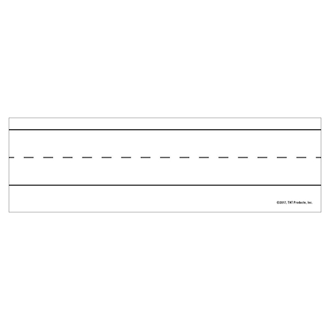 Magnetic Word Strips White