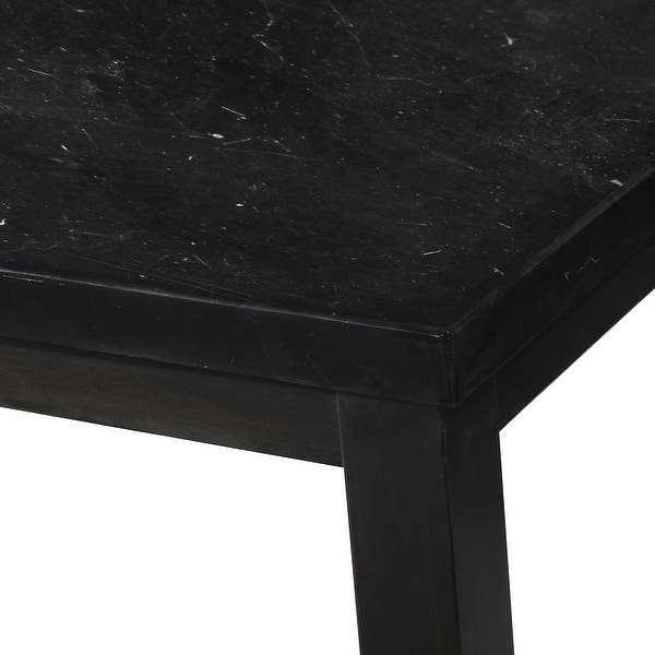 Porch Den Merkem Square Black Marble Top Counter Height Dining Table Overstock 31525371