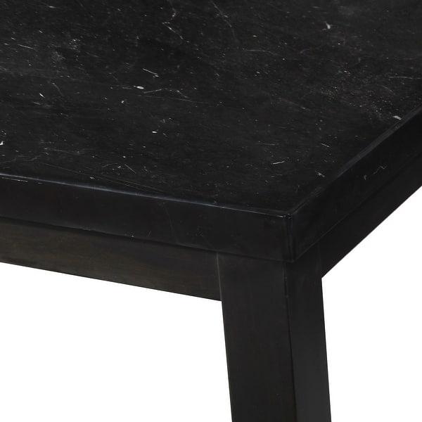 Porch Den Merkem Square Black Marble Top Dining Table Overstock 31525356