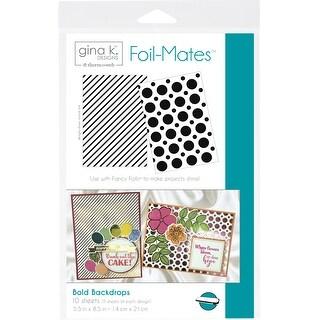 "Gina K Designs Foil-Mates Background 5.5""X8.5"" 10/Pkg-Bold Backdrops, 2 Designs/5 Each"