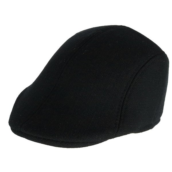 Shop Westend Men s Solid Black Ivy Cap - Free Shipping On Orders Over  45 -  Overstock.com - 24268443 30b0acc4da5