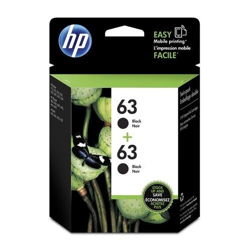 HP 63 2-Cartridges Black Original Ink Cartridge (T0A53AN)(Single Pack)
