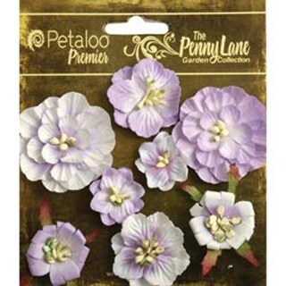 """Soft Lavender - Penny Lane Mixed Blossoms 1"""" To 1.75"""" 8/Pkg"""