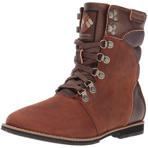 Columbia Womens Twentythird Ave Leather Round Toe Mid-Calf Combat Boots