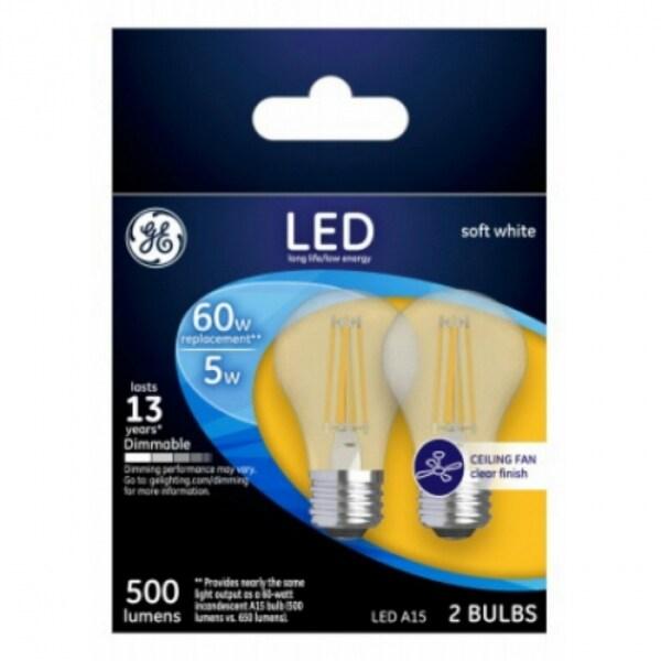 Shop Ge 23444 Medium Base A15 Clear Dimmable Ceiling Fan Led Bulb