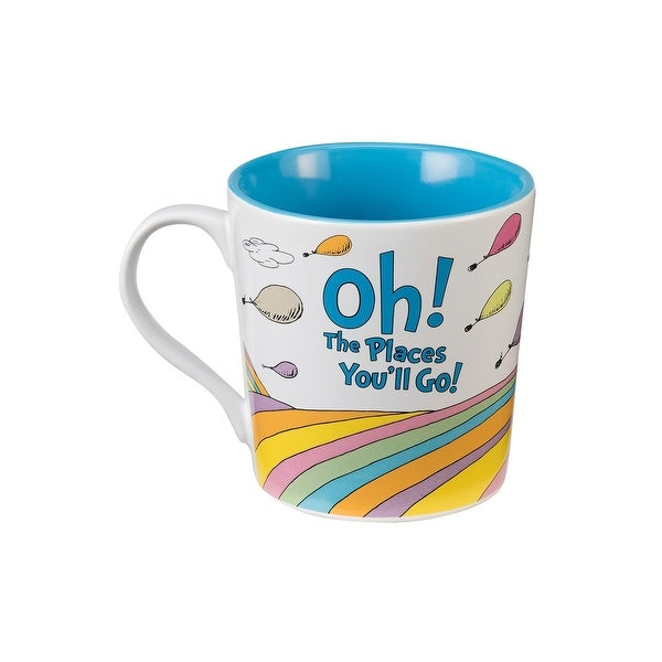 "Dr. Seuss ""Oh the Places You'll Go"" 12 oz Ceramic Mug"