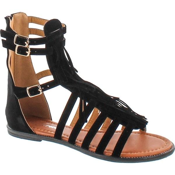 Forever Link Women's Katia-51 Gladiator Fringe Tassel Flat Sandals