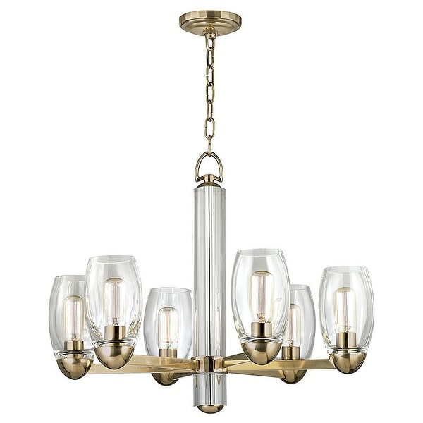 Hudson Valley Lighting 8846 Pamelia 6 Light 26 Wide Chandelier Aged Br N A