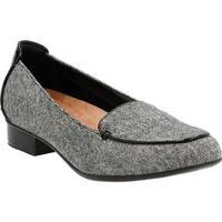 Clarks Women's Keesha Luca Loafer Black Tweed Wool
