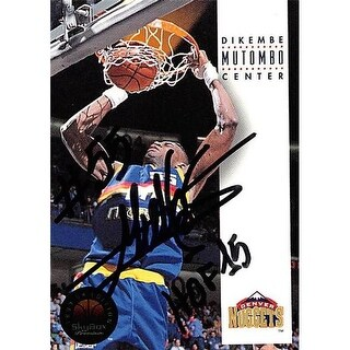 Dikembe Mutombo Autographed Basketball Card - Denver Nuggets 1993
