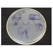 Signed American HiFi Remo 13in Drumhead by Stacy Jones Brian Nolan Drew Parsons and Jamie Arentzen